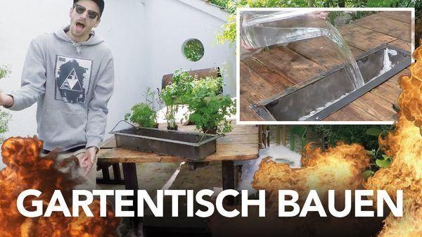 Heimwerkerchemiker Kliemann bastelt sich einen Gartentisch