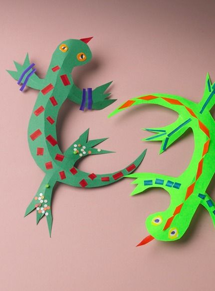 Leaping Lizards Is A Fun And Easy Paper Craft For Kids To