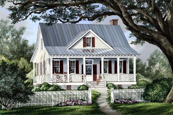 #Country #HousePlan 86101   This brand-new house, Raspberry Cottage, has a very merry old soul. With appropriate vintage detail and an abundance of charm, the young couple who live there say it reminds them of the quaintness they enjoyed when visiting their great aunts...great memories.