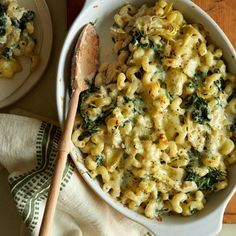 Baked Spinach and Artichoke Mac and Cheese ..Oh my goodness, yes !