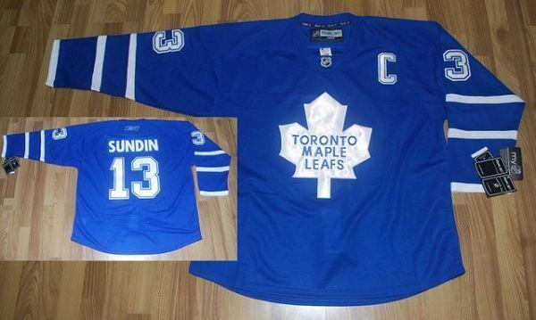 Maple Leafs #13 Mats Sundin Stitched Blue NHL Jersey
