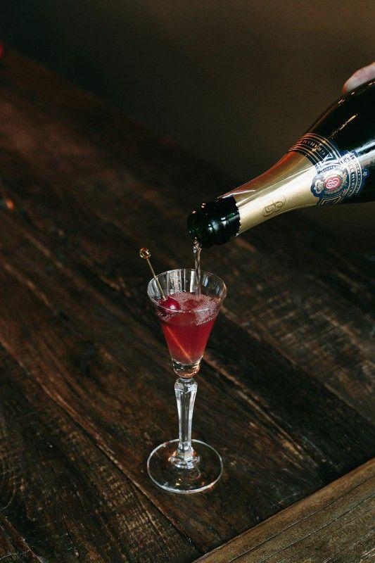 Red Wedding - Gin, Cranberry Shrub, Sparkling Wine, Cardamom Bitters.