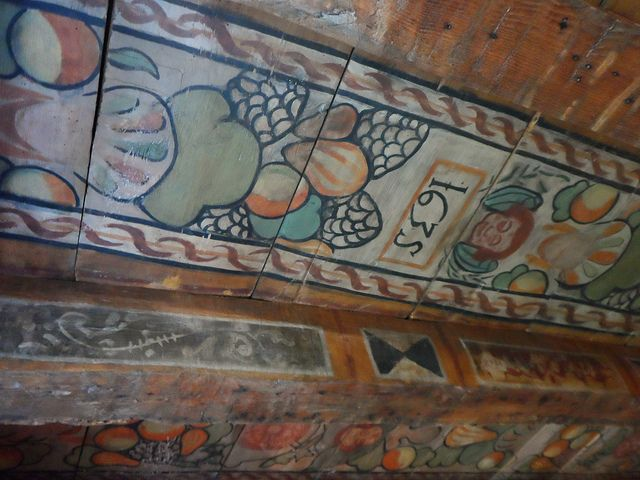 1635 painted ceiling in old gala house in galashiels in Rules for painting ceilings