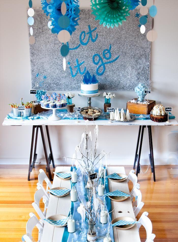 Frozen birthday party via Kara's Party Ideas KarasPartyIdeas.com Cake, food, favors, supplies, and more! #frozen #frozenparty #frozenbirthdayparty