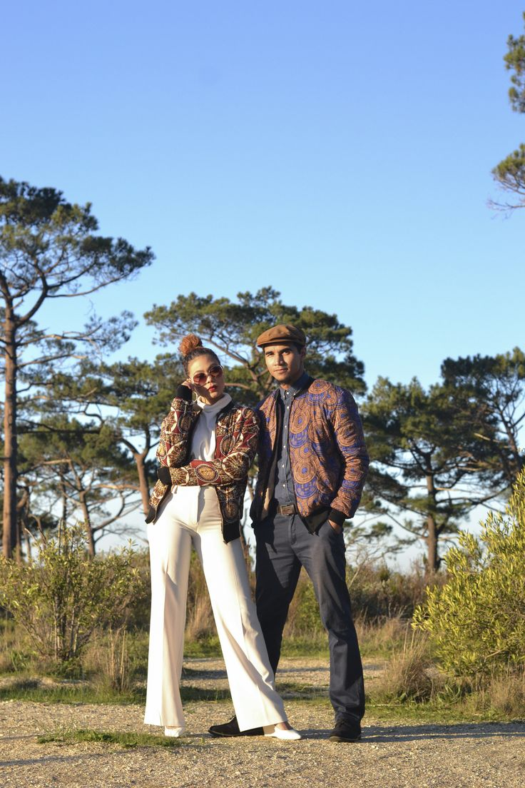 Printed bombers. Male and female. Made in Cape Town, South Africa