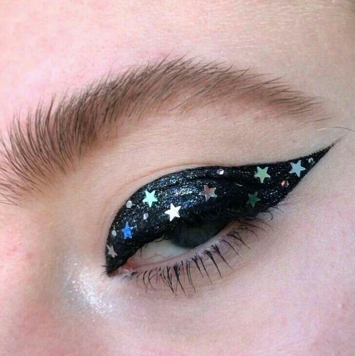 Black cat eye, rainbow stars #InvitingImagination