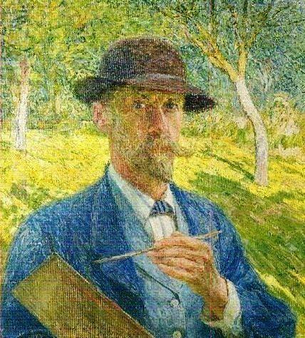 Self portrait, 1913 by Emile Claus (Belgian, 1849-1924)