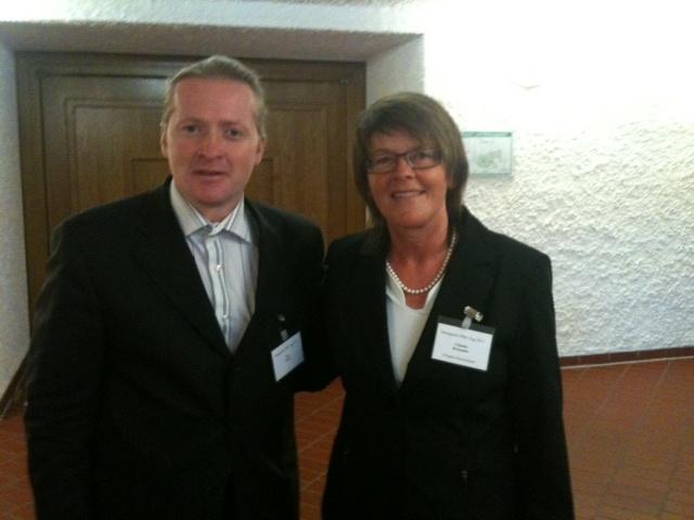 Joey Kelley und Claudia Brösamle / Infopaq auf dem PBS Tag 2011 in Stuttgart