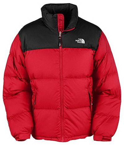 Mens The North Face Down Jacket Red