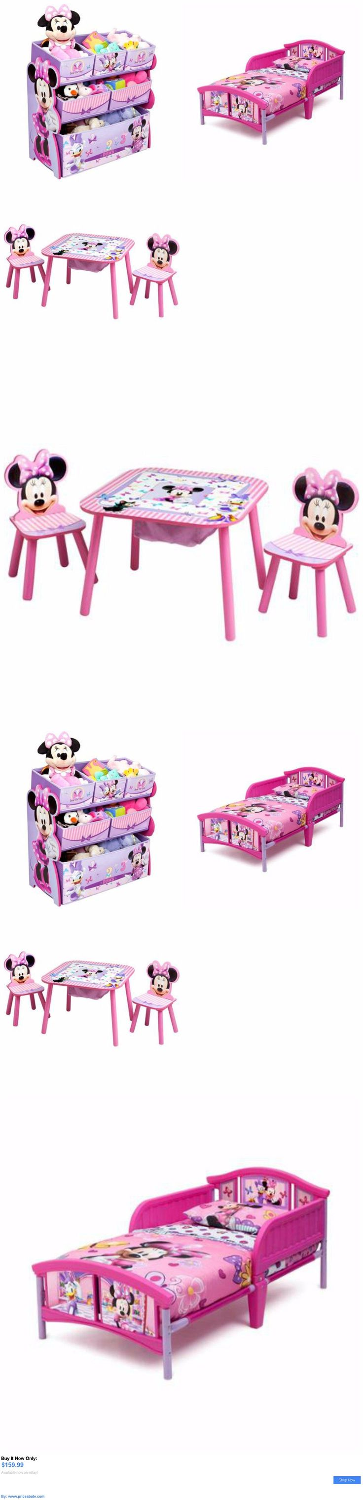 Kids at Home: Minnie Mouse Toddler Bedroom Furniture Set Disney Bed Toy Bin Pink Girls New BUY IT NOW ONLY: $159.99 #priceabateKidsatHome OR #priceabate