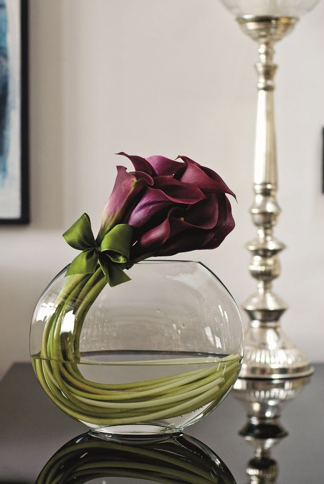 Simple calla vase arrangement