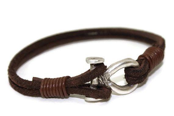 Men's suede bracelet  multi strand bracelet  by LuckyBeadsBox