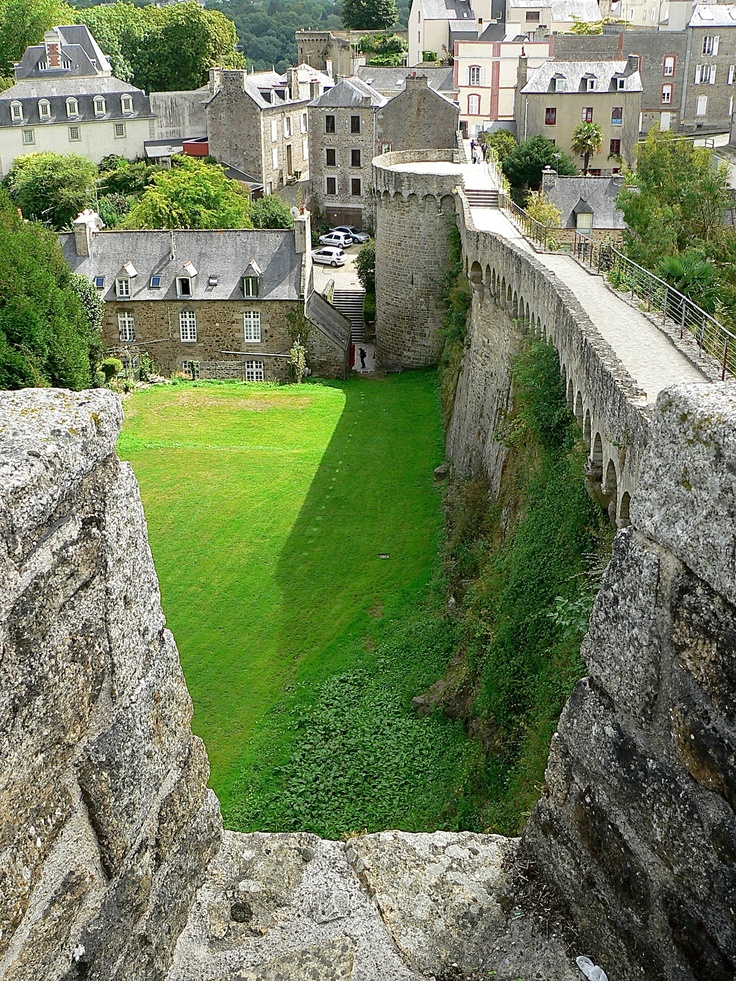 Medieval ramparts, Dinan, Brittany, France