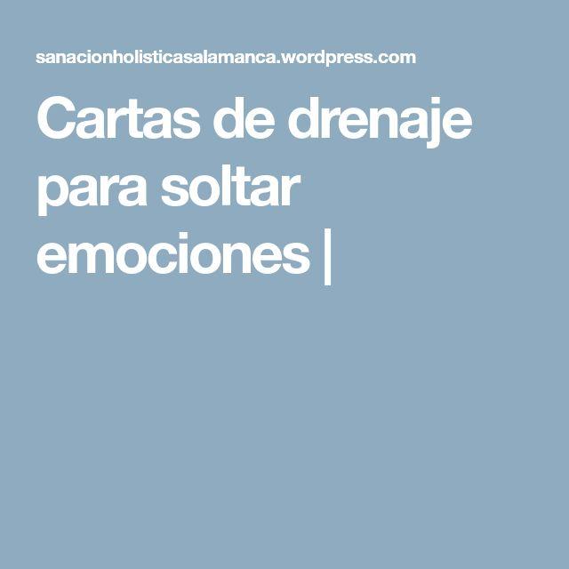 Cartas de drenaje para soltar emociones |