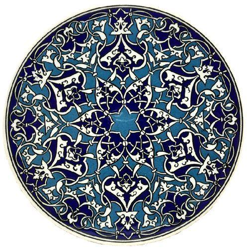 Hot Plate Ceramic Trivet - Blue & Turq. - İznik Çini Tiles - Turkish Grocery & Food, Turkish Music, Turkish Books, Home Decoration, Evil Eyes, Jewelries, Turkish Soccer Teams