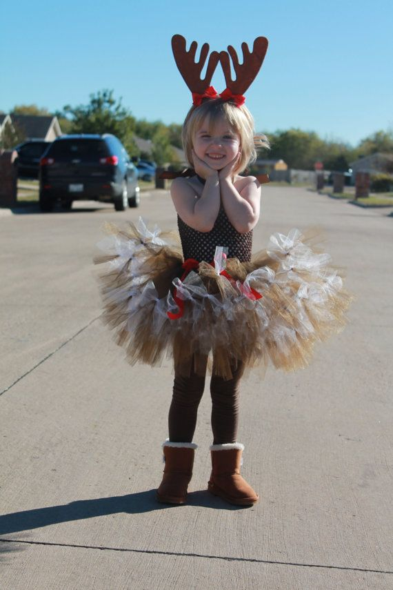 Reindeer tutu dress. Baby/toddler reindeer by AbbyJadeCreations