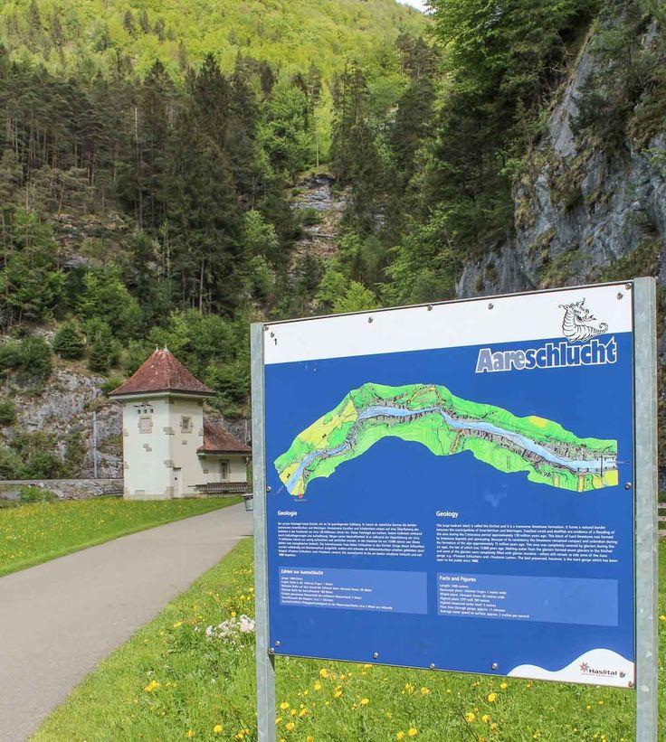 Doen in Meiringen wandelen door kloof Aareschlucht Map