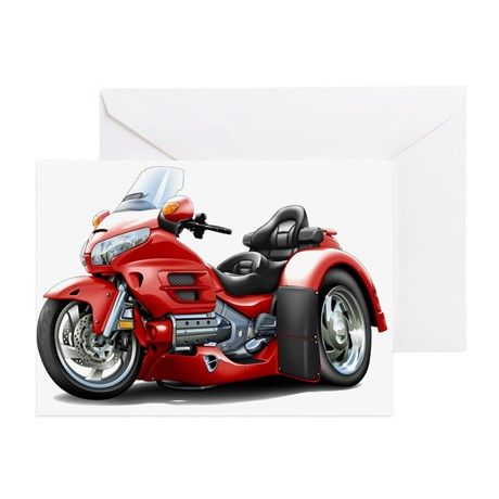 Goldwing GL1800 Red Trike Greeting Card