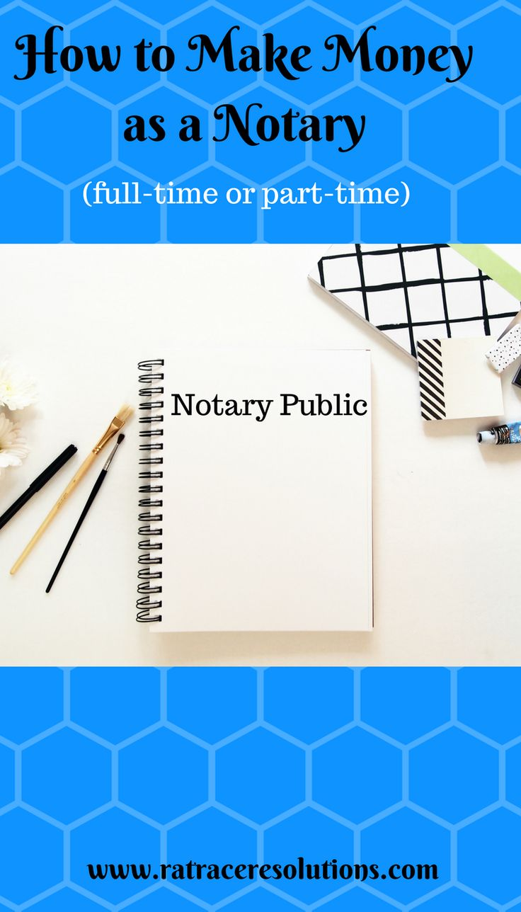 How to a notary public and make good money notary