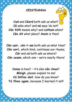 Image result for irish question poem
