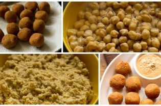 Falafel is a middle eastern fried snack made with chickpeas or fava beans. Serve them plain with a side dip or chutney and at times as a stuffing in pita bread. To make traditional falafel with soaked raw chickpeas. To use dried white chickpeas and then soak them overnight or for 8 to 9 hours. Later grind the chickpeas coarsely....  Read More