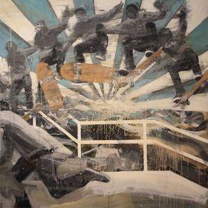 """Kjetil Jul - """"Spinnin' Wheels"""" 160 x 160 cm"""