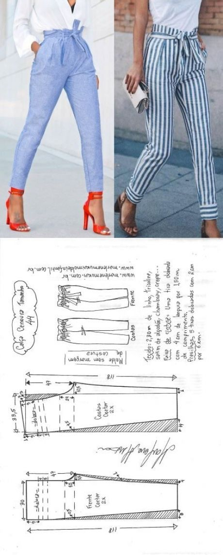 Calças de vagabundo ou cenoura | DIY – Costura e corte – Marlene