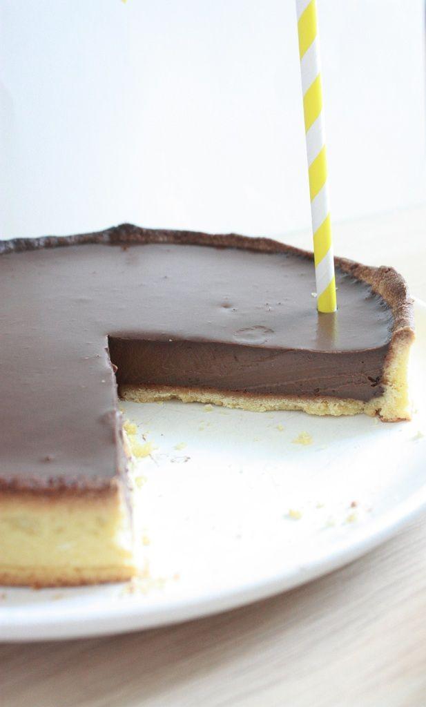 Tarte au chocolat de Christelle Brua.