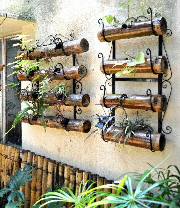 bamboo planters...super cool n elegant