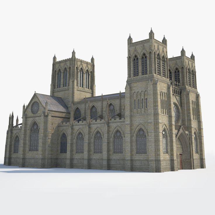 Medieval Gothic Cathedral, Yura Ponomarenko on ArtStation at https://www.artstation.com/artwork/ORVke