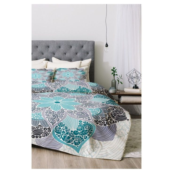 Blue Valentina Ramos Petunia Mandala Comforter Set (Twin XL) 2pc - Deny Designs