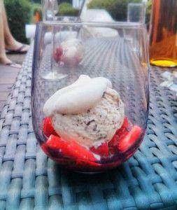 aardbeien/munt/roomijs - strawberries/mint/icecream