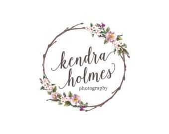 Premade Flower Logo Photography Logo Florist by stylemesweetdesign                                                                                                                                                                                 More