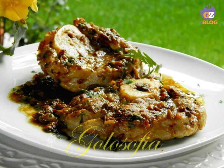Ossibuchi in salsa di funghi porcini-ricetta secondi di carne-golosofia
