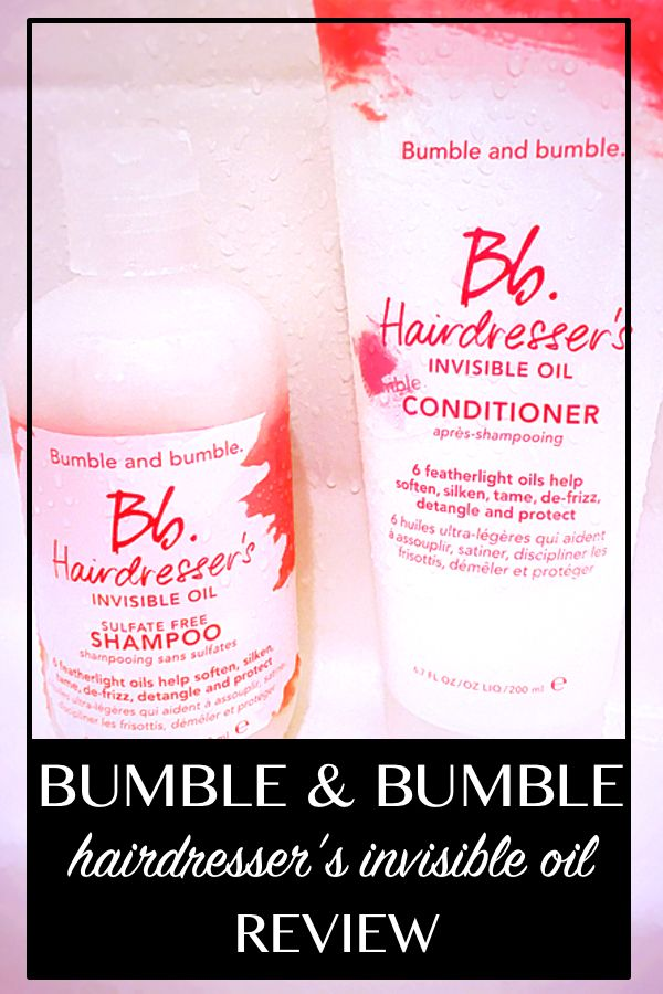 Full review of Bumble & Bumble Hairdresser's Invisible Oil Shampoo and Conditioner.