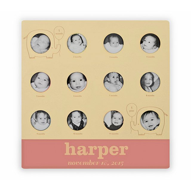 73 best personalized baby gifts images on pinterest personalized babys first year personalized frame negle Choice Image