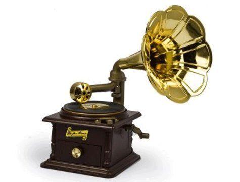 Gramofon Şeklinde Takı Çekmeceli Müzik Kutusu ,