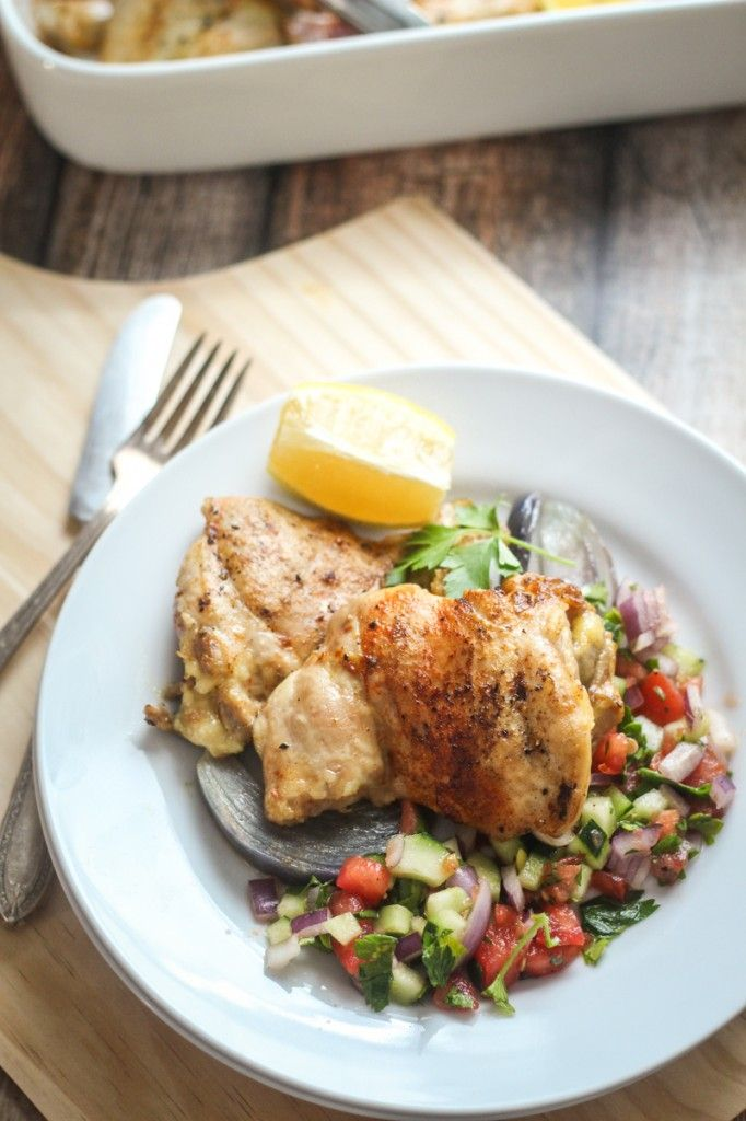 Israeli Roast Chicken by thewanderlustkitchen #Chicken #Israeli #Healthy