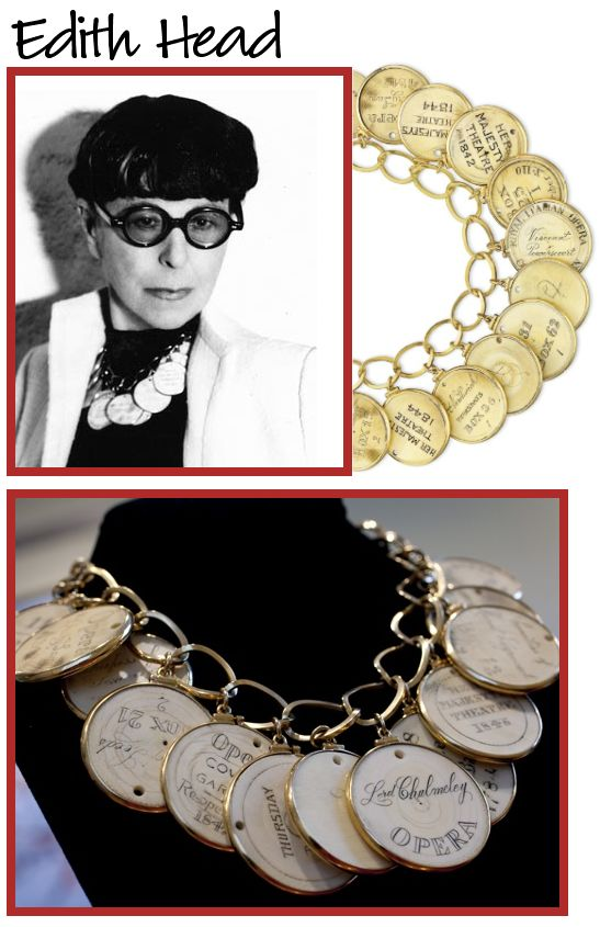 edith head and jewelry for elizabeth taylor. Love Edith.