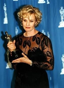 """Jessica Lange 1994. Best Actress, Oscar winner for the movie """"Blue Sky"""". Two time Oscar winner, Best Actress in 1994 and Best Supportin Actress in 1982 for her performance in """"Tootsie"""""""