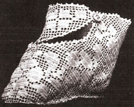Antique Baby Shoes Booties Filet Crochet Pattern Doll FiletBabyShoes
