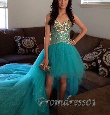 #promdress01 prom dresses - sparkly sweetheart strapless blue tulle mermaid prom dress for teens, custom made ball gown / evening dresses for season 2015 #coniefox #2016prom
