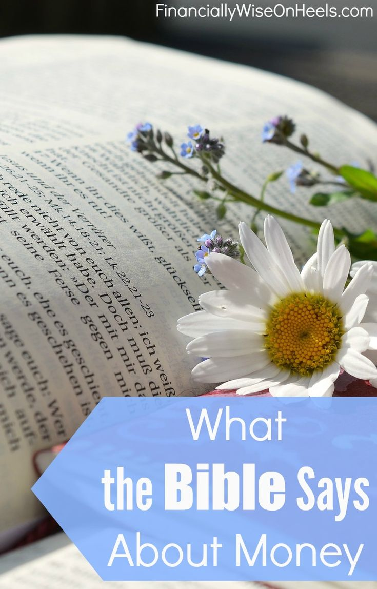 What the Bible Says About Money? Don't love money, instead use it as a tool. Getting out of debt, developing a budget, working hard, saving money, and most importantly, giving generously, are all mentioned in the Holy Bible. Use this wisdom and share with others! http://www.financiallywiseonheels.com/what-the-bible-says-about-money/