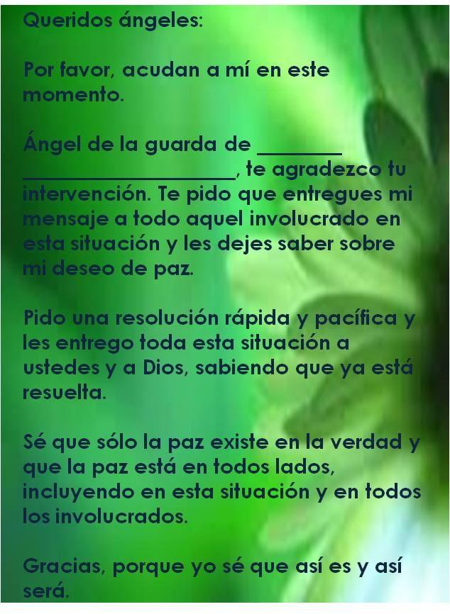 #UniversoDeAngeles Oración a los ángeles para resolver un conflicto.