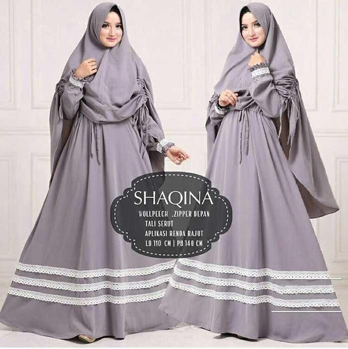 Model Gamis Renda 2019 Renda Rajut Pakaian Wanita Baju Muslim