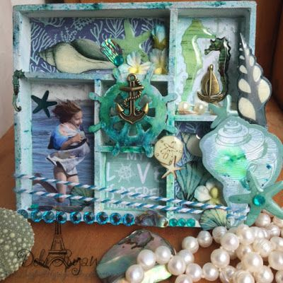 Artfull Crafts: Debi Ryan: Mini Coastal Escape Shadow Box