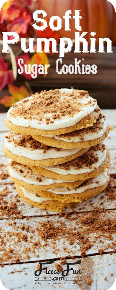 Soft Pumpkin Sugar Cookie Recipe.  A deliciously soft pumpkin sugar cookie and with ginger snap sprinkles - brilliant!  Perfect for any fall party or get together.  Check out the recipe here!