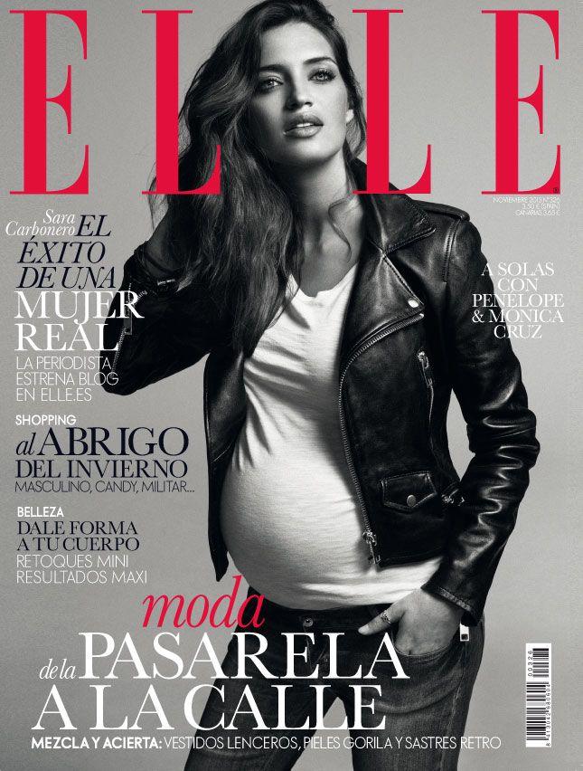 Elle España noviembre 2013, con la periodista y colaboradora de nuestra revista, Sara Carbonero.