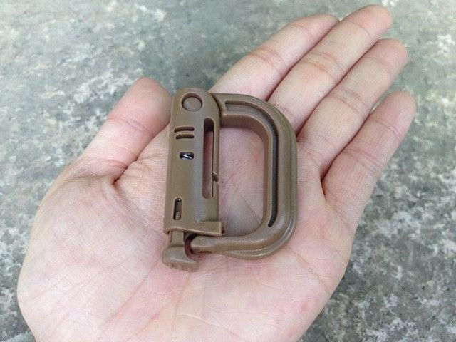 5PCS Grimloc Molle Carabiner D Locking Ring Plastic Clip Snap type ring buckle carabiner Keychain ITW fastener