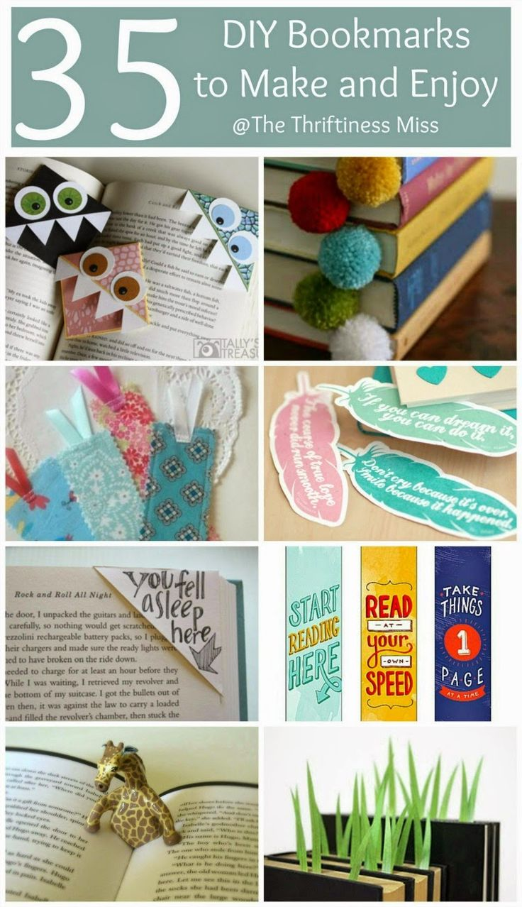 The Thriftiness Miss: 35 Creative Bookmarks to Make and Enjoy
